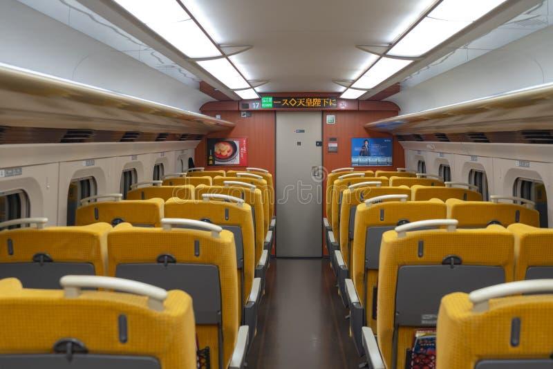 Akita Shinkansen Komachi, intérieur des sièges standard de classe E6 des séries Shinkansen photo libre de droits