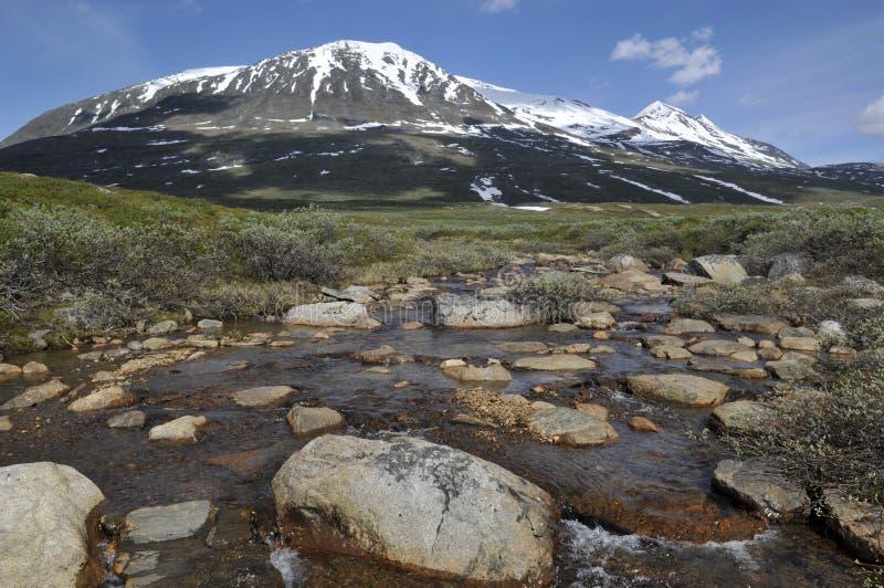 Akka Berg Sarek im Nationalpark lizenzfreie stockfotografie