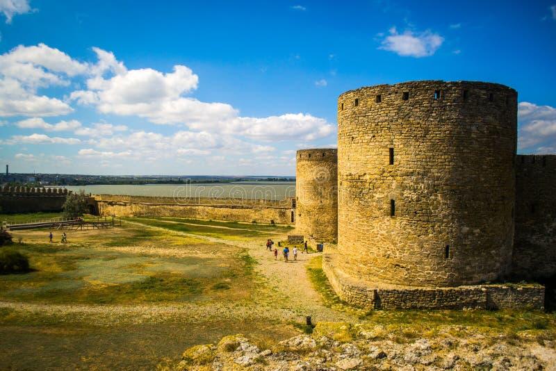Akkerman堡垒,别尔哥罗德州Dnestrovsky,乌克兰 库存图片