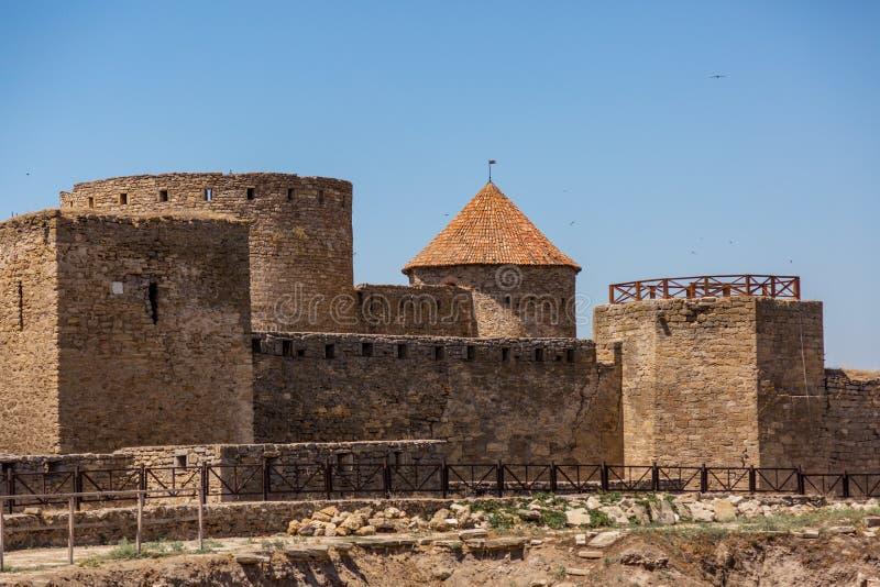 Akkerman Bilhorod-Dnistrovskyi fortress in Ukraine. Medieval castle. Interior of Akkerman Bilhorod-Dnistrovskyi fortress in Ukraine. Medieval castle stock image
