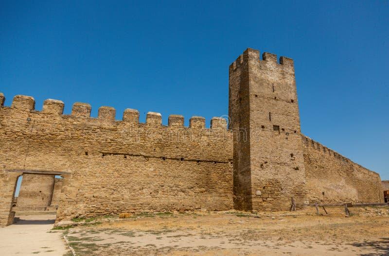 Akkerman Bilhorod-Dnistrovskyi fortress in Ukraine. Medieval castle. Interior of Akkerman Bilhorod-Dnistrovskyi fortress in Ukraine. Medieval castle royalty free stock image