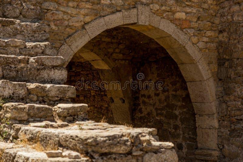 Akkerman Bilhorod-Dnistrovskyi fortress in Ukraine. Medieval castle. Interior of Akkerman Bilhorod-Dnistrovskyi fortress in Ukraine. Medieval castle royalty free stock images