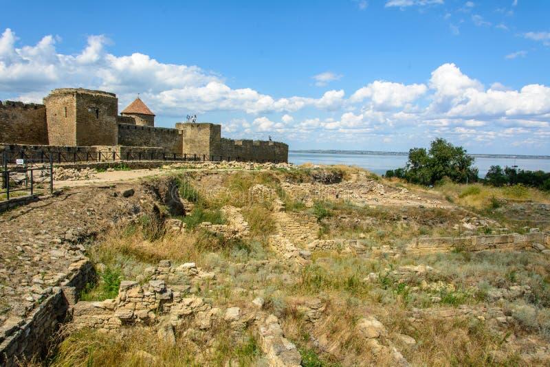 Akkerman forteca jest dziejowym i architektonicznym zabytkiem zdjęcie stock