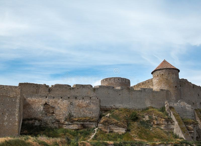 Akkerman fortress in Ukraine. Akkerman Bilhorod-Dnistrovskyi fortress in Ukraine. Medieval castle royalty free stock photo