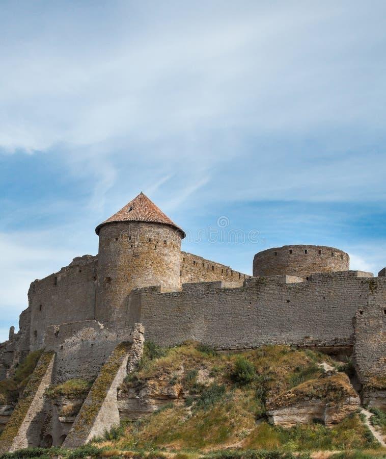 Akkerman fortress in Ukraine. Akkerman Bilhorod-Dnistrovskyi fortress in Ukraine. Medieval castle stock photography
