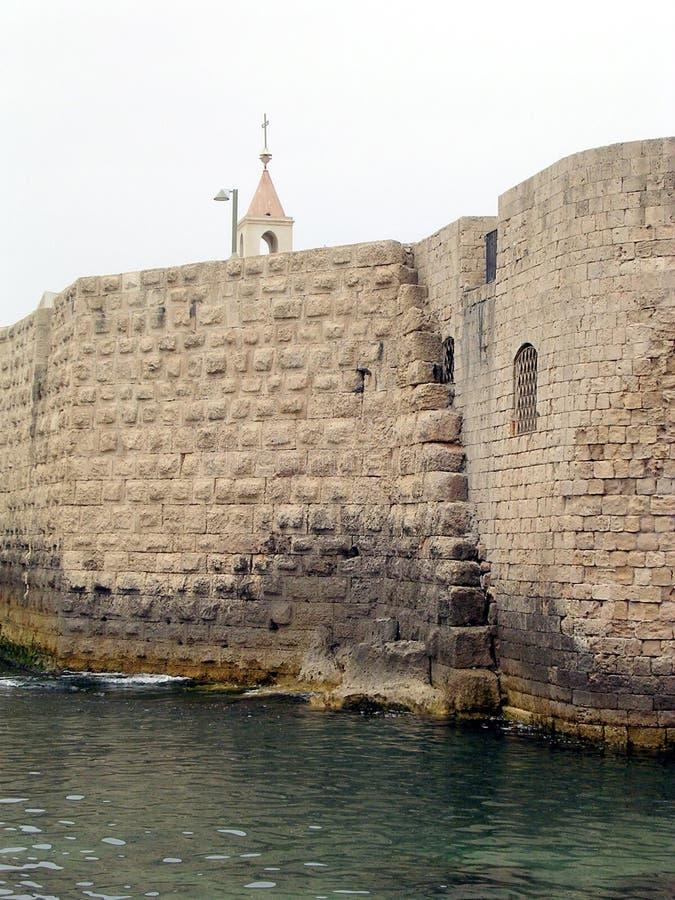 Akko古老墙壁2004年 库存图片