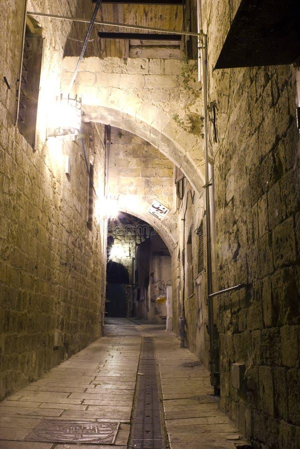 Akko (στρέμμα) στη νύχτα, Ισραήλ στοκ εικόνα με δικαίωμα ελεύθερης χρήσης