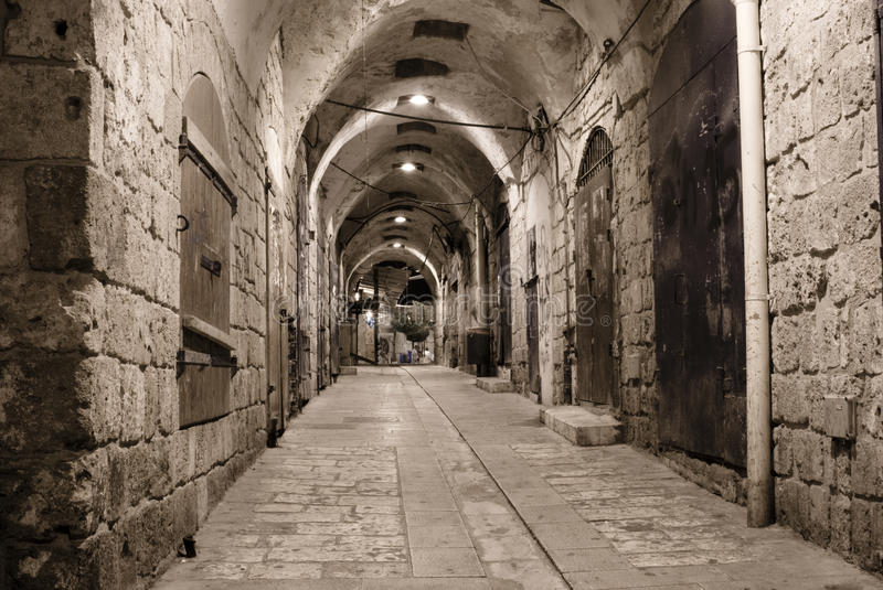 Akko (Acre)at Night, Israel Stock Photos