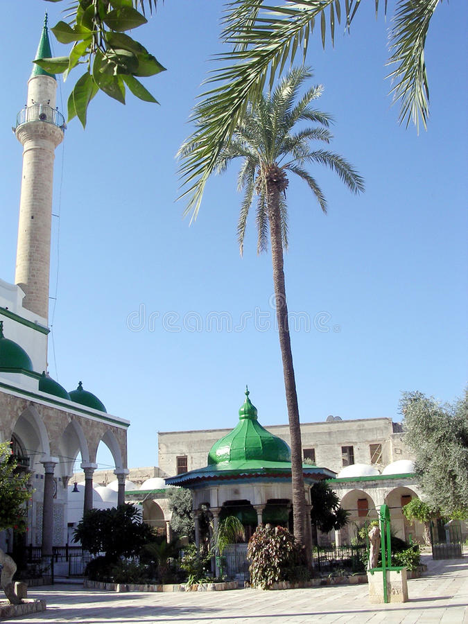 Akko ElJazzr清真寺尖塔2003年 免版税图库摄影