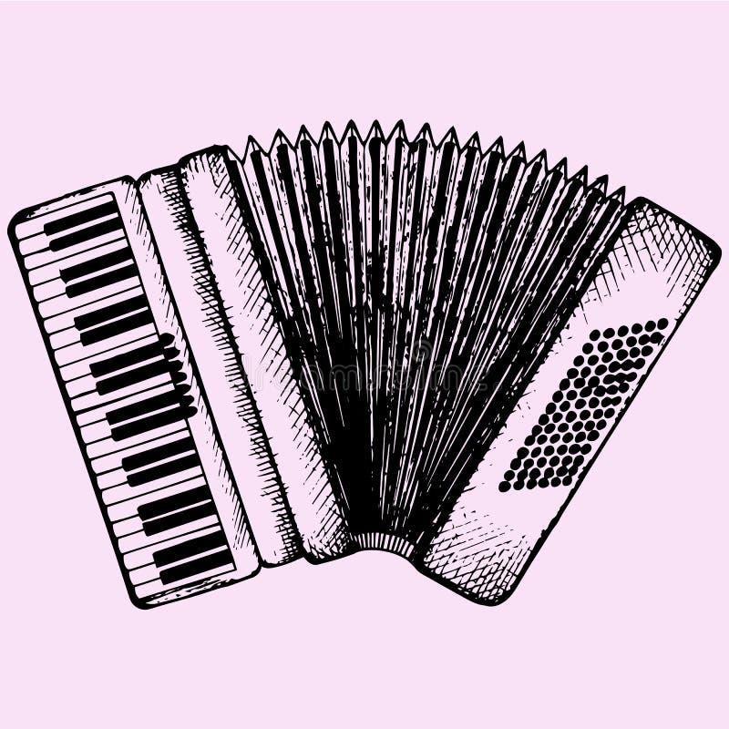 akkordeon lizenzfreie abbildung