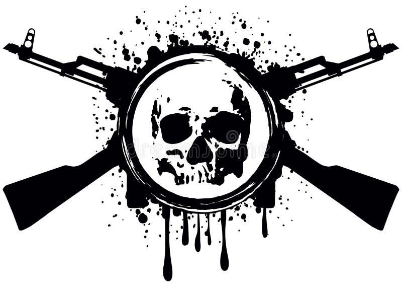 Akm de crâne illustration libre de droits