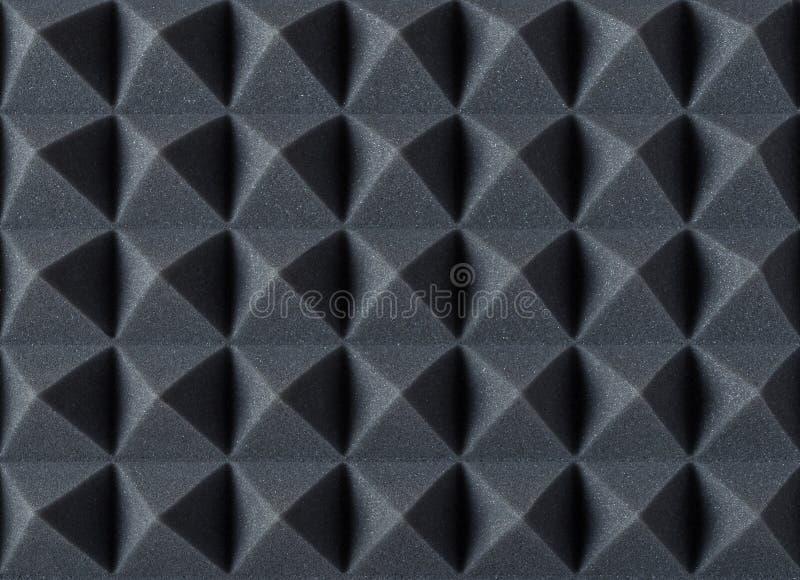 Akoestisch absorberend schuim voor studioopname Piramidevorm royalty-vrije stock afbeeldingen