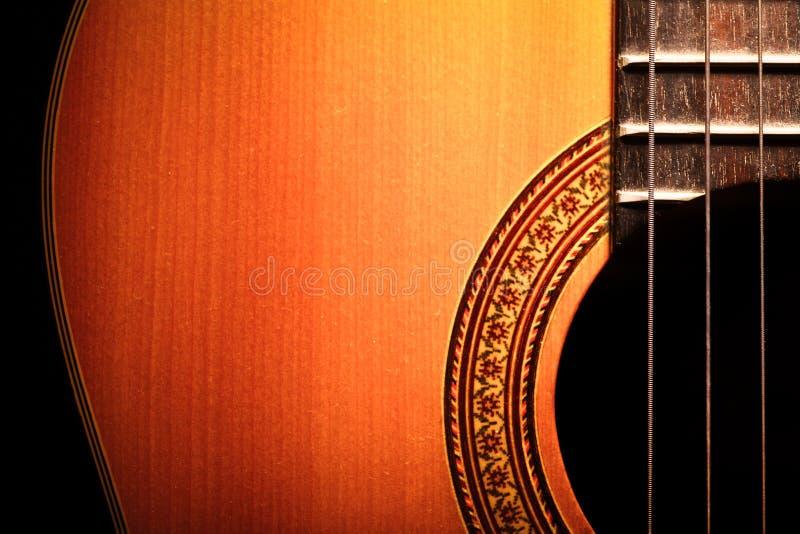 Akoestisch gitaardetail royalty-vrije stock foto's