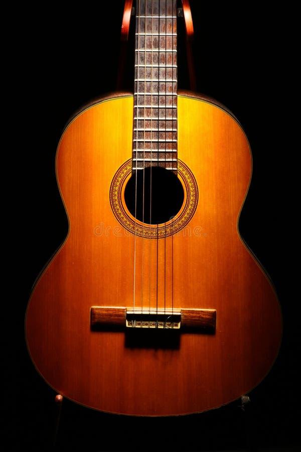Akoestisch gitaardetail stock foto's