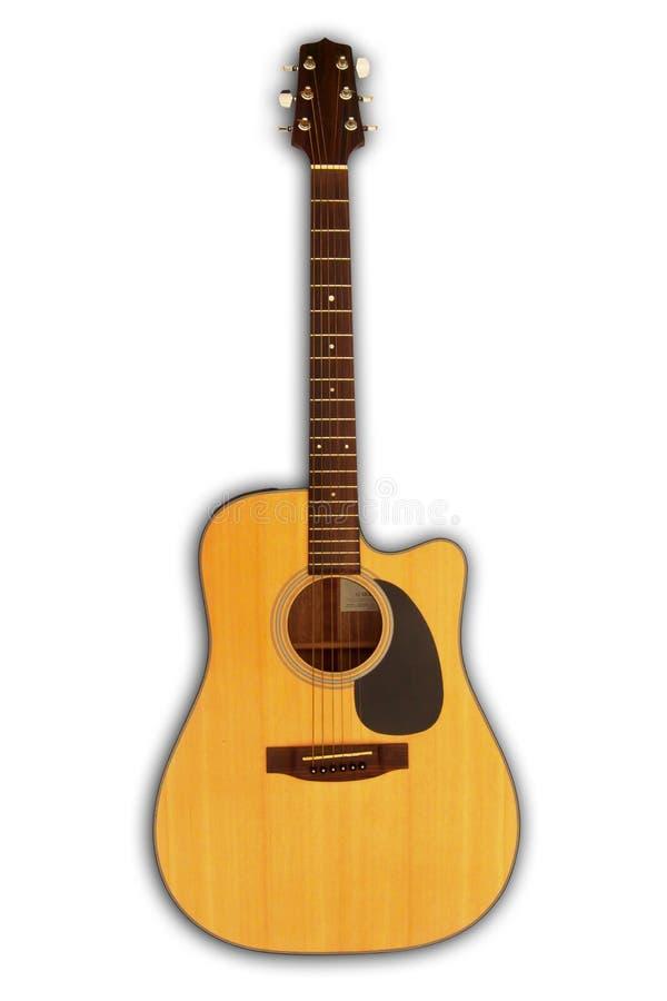 Akoestische gitaar - schema royalty-vrije stock foto's