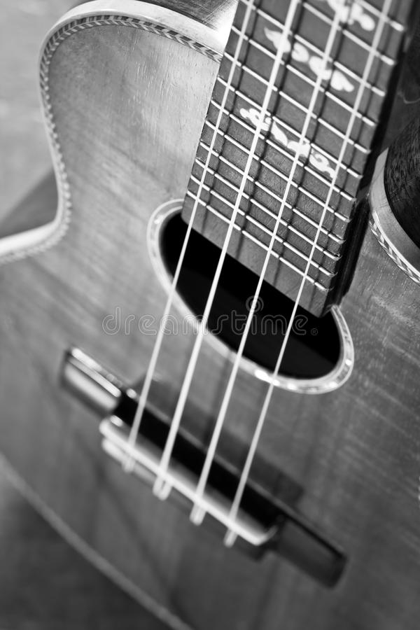 Akoestische gitaar, uiterst ondiepe dof. royalty-vrije stock fotografie