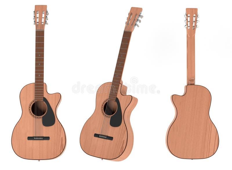 Akoestische gitaren royalty-vrije illustratie