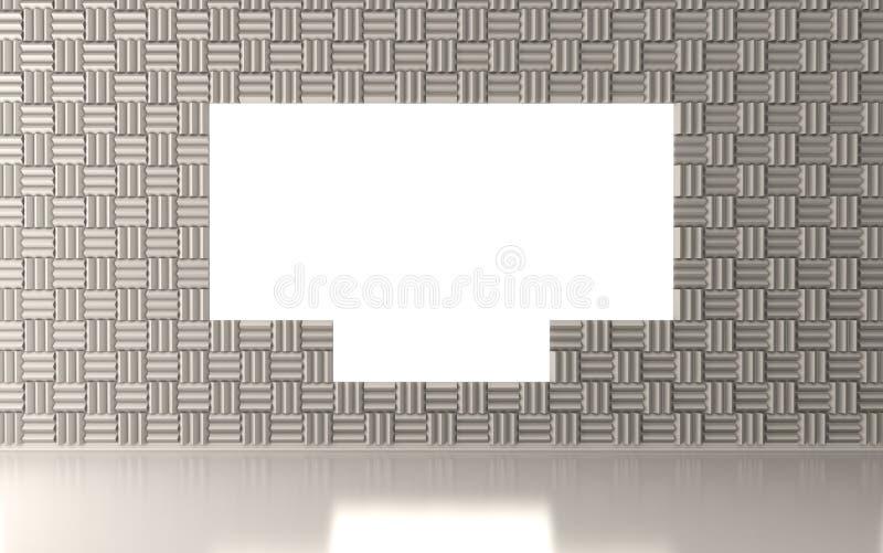 Akoestische ruimte met het witte scherm vector illustratie