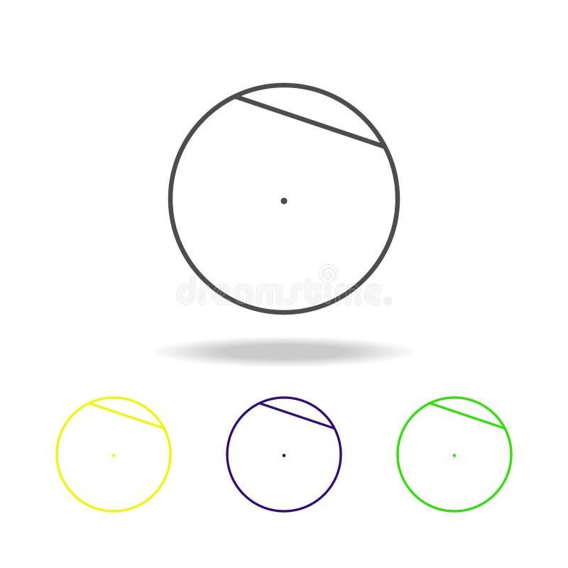 akord okrąg barwiona ikona Może używać dla sieci, logo, mobilny app, UI, UX royalty ilustracja