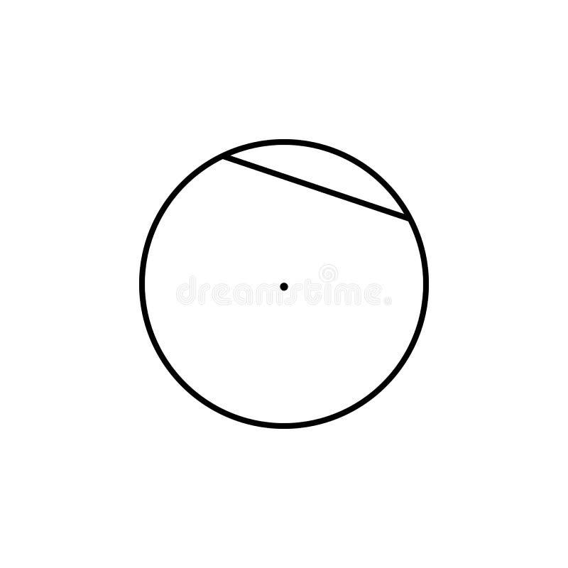 Akord okrąg ikona Geometryczny postać element dla mobilnych pojęcia i sieci apps Cienka kreskowa ikona dla strony internetowej de ilustracja wektor