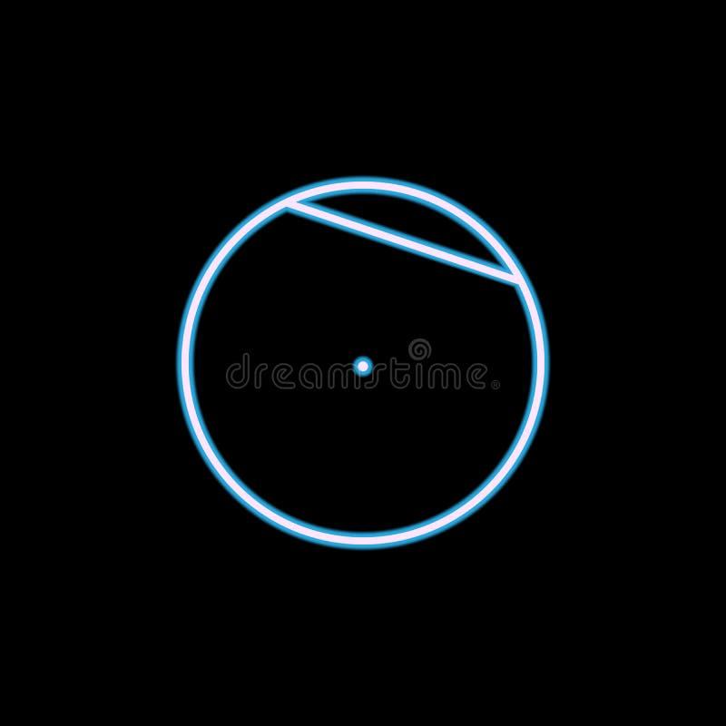 akord okrąg ikona w neonowym stylu Jeden geometrycznej postaci inkasowa ikona może używać dla UI, UX ilustracja wektor