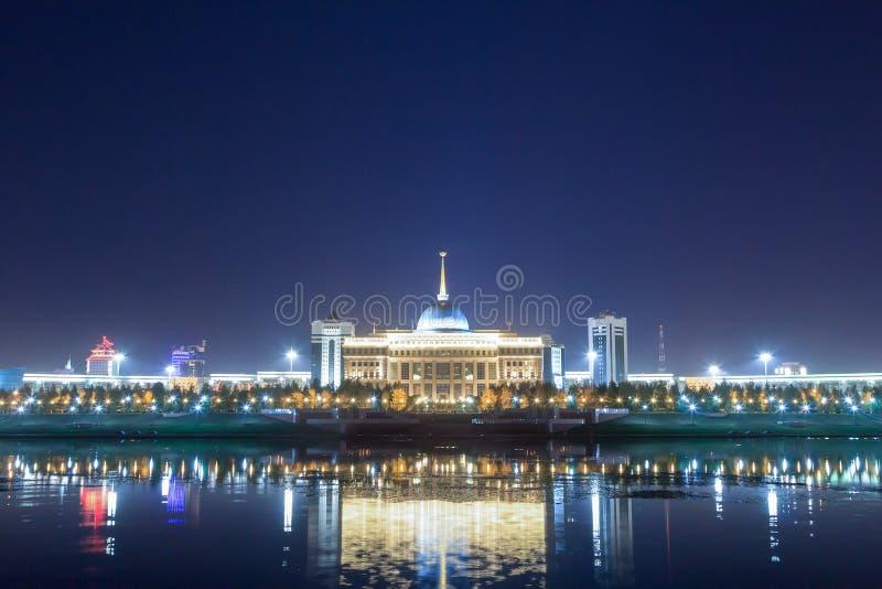 Akorda - la residenza del presidente della Repubblica di Kazak fotografia stock libera da diritti