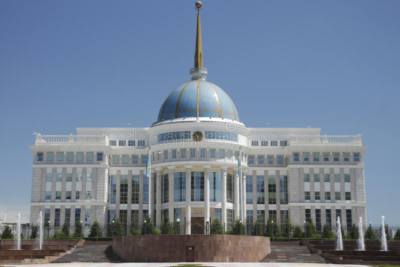 Akorda Prezydencki republika Kazachstan siedziba fotografia royalty free