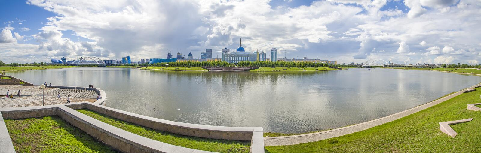 Akorda - the residence of the President of the Republic of Kazakhstan. stock image