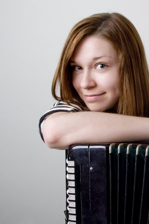 akordeon dziewczyna zdjęcia stock