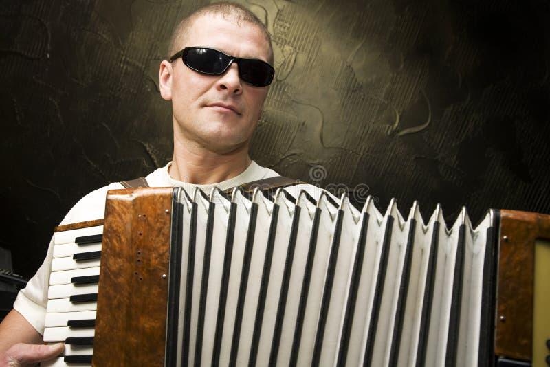 akordeonu mężczyzna sztuka obrazy royalty free