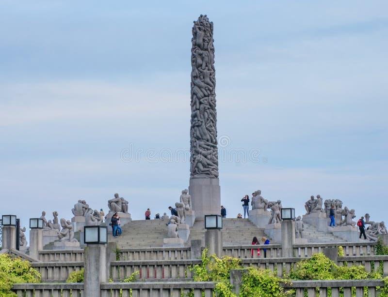 80 212 akrów brązowieją pokrywy tworzącego cech granitowego Gustav Norway Oslo parkowego rzeźb statui vigeland zdjęcia royalty free