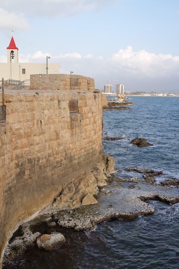 Akra nabrzeże - Izrael obraz stock