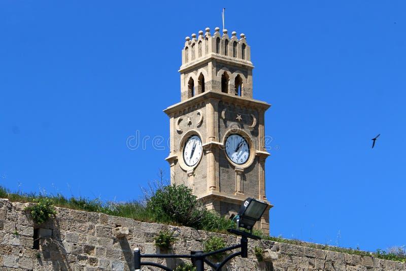Akra stary forteca morzem zdjęcie stock