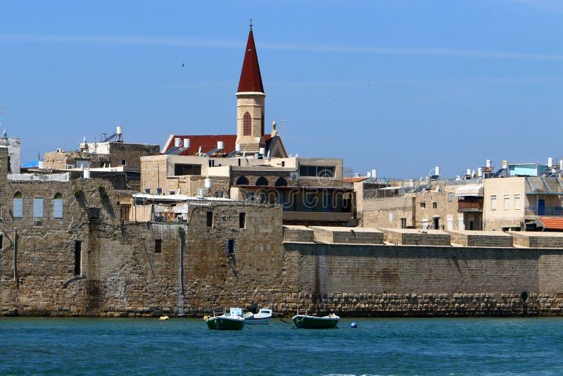 Akra stary forteca morzem zdjęcie royalty free