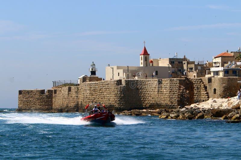 Akra stary forteca morzem obrazy stock