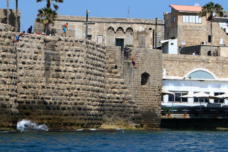 Akra stary forteca morzem fotografia royalty free