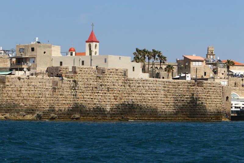 Akra stary forteca morzem zdjęcia stock