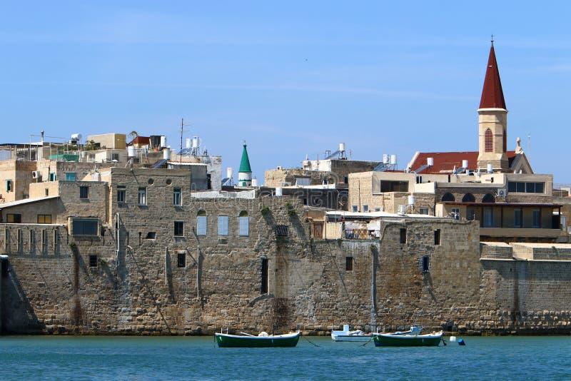 Akra stary forteca morzem zdjęcia royalty free