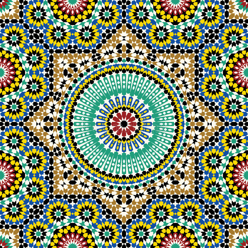 Akram Morocco Pattern Five stock illustrationer