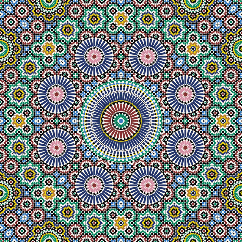 Akram Morocco Pattern royalty free illustration