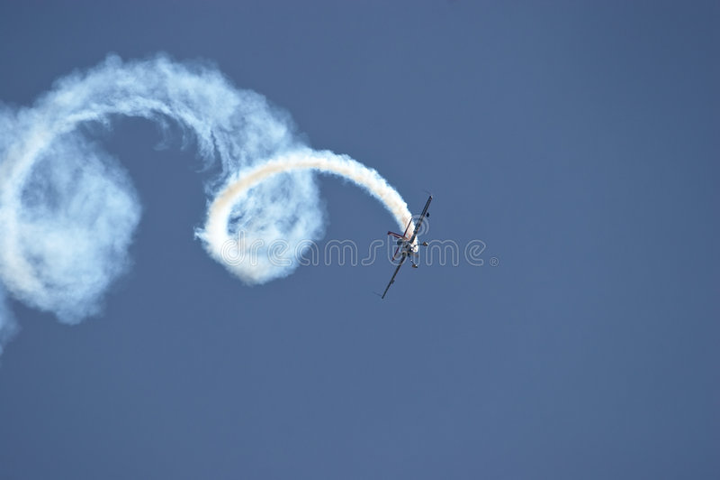 akrobacje powietrzne zdjęcia stock
