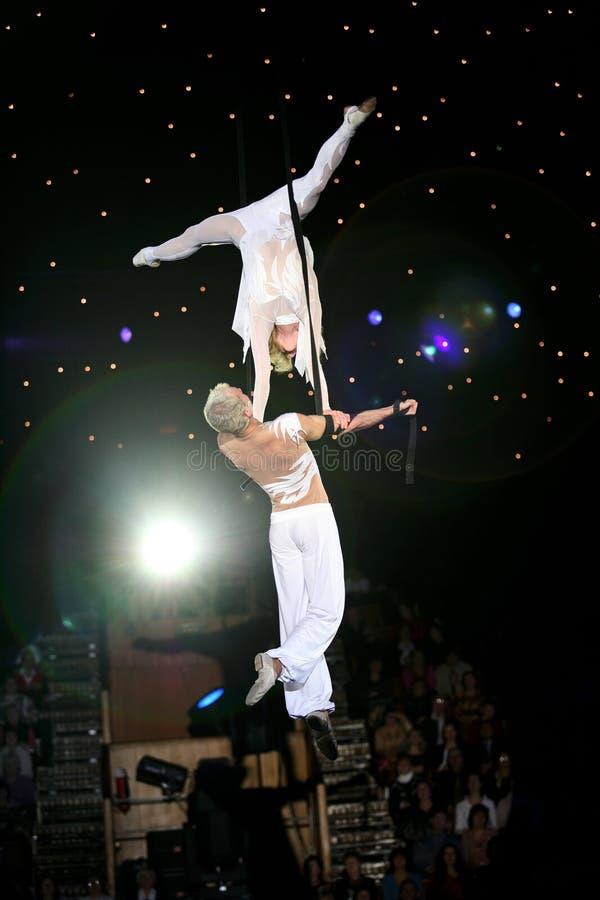 akrobatą powietrza zdjęcia royalty free