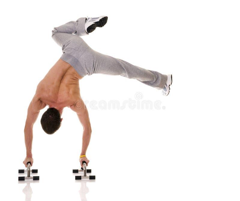 Download Akrobata obraz stock. Obraz złożonej z mężczyzna, bicepsy - 10241245