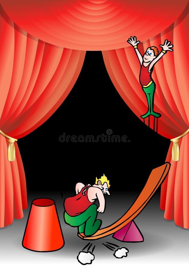 akrobata dźwigni wykonawca royalty ilustracja