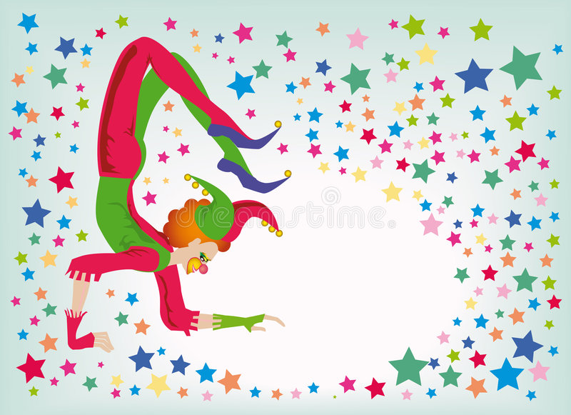 akrobata dowcipniś ilustracja wektor