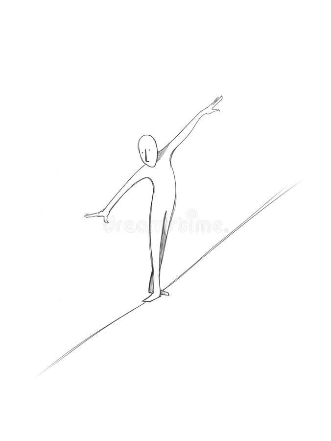 akrobata mężczyzna royalty ilustracja