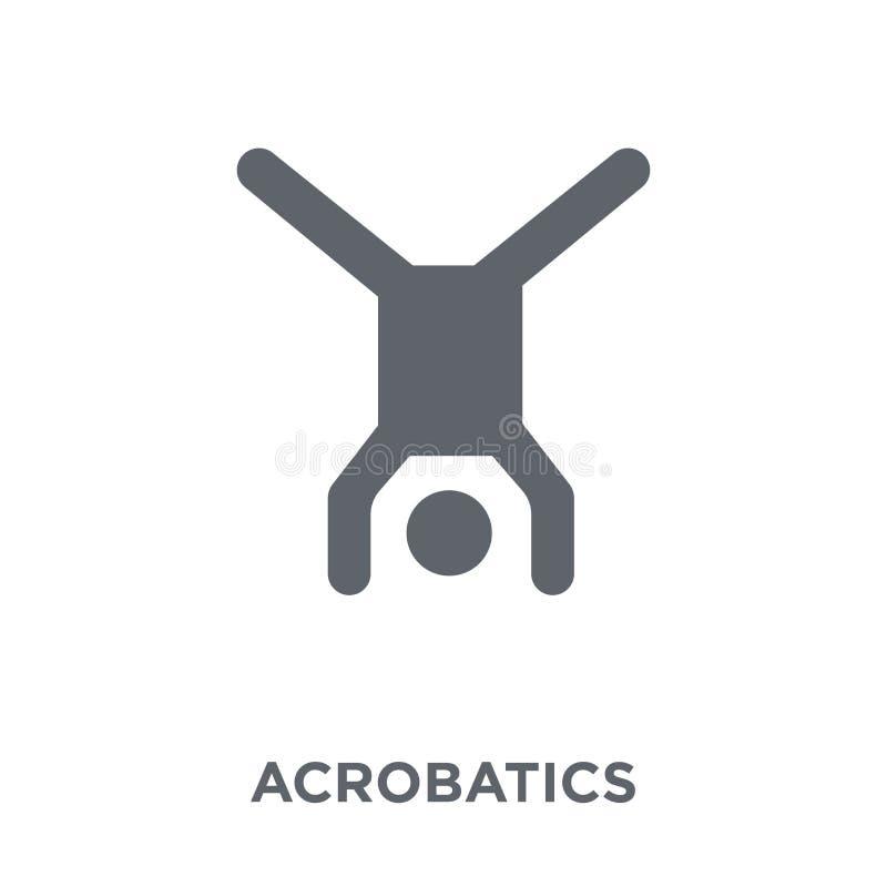 Akrobatiksymbol från cirkussamling royaltyfri illustrationer