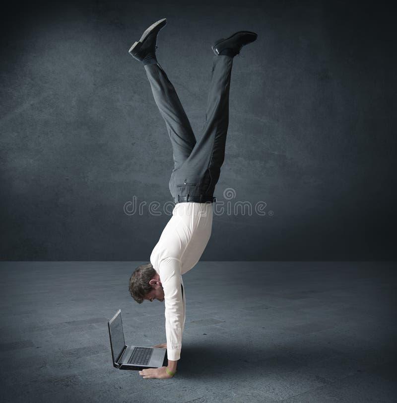 Akrobatische Arbeit stockbilder