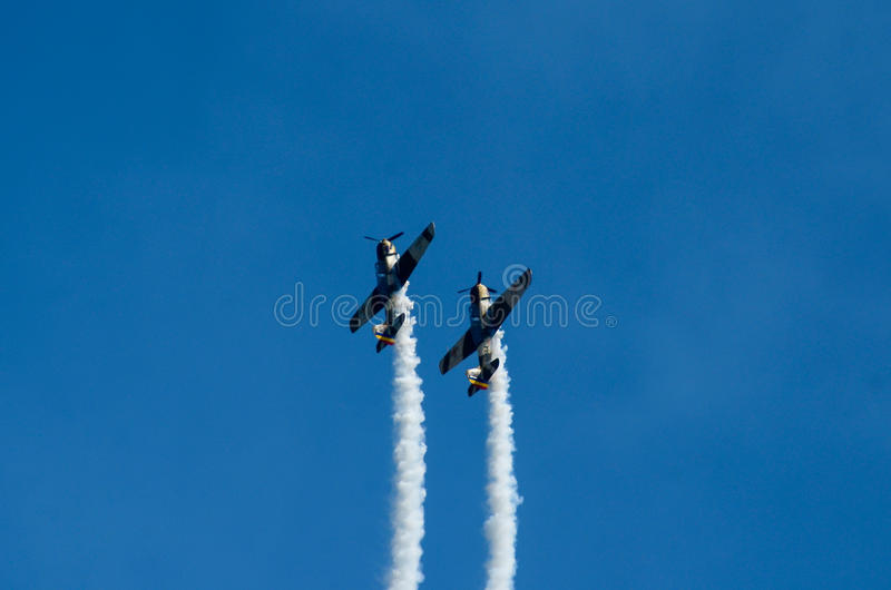 Akrobatische Flugzeuge lizenzfreies stockfoto
