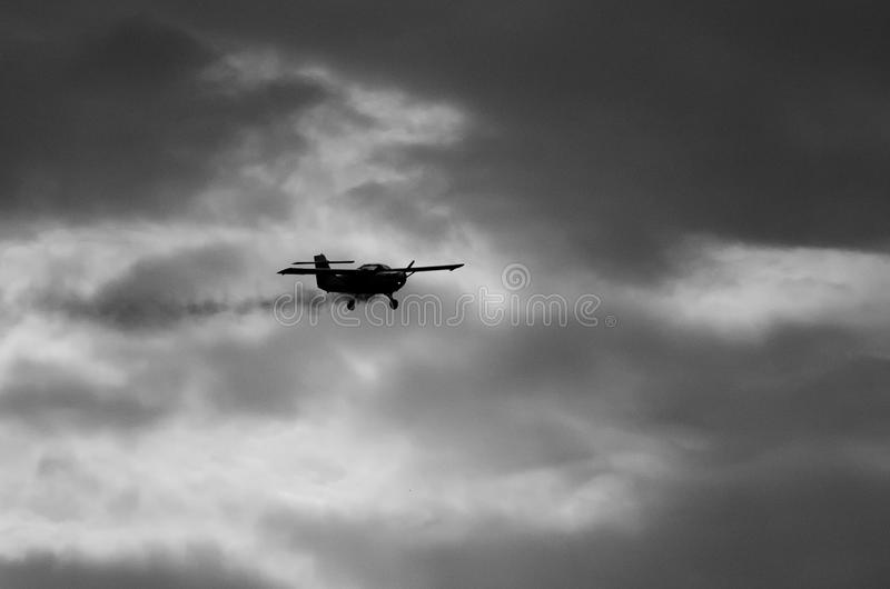 Akrobatisches Flugzeug stockfoto